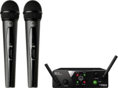 Micrófono AKG Sistema inalámbrico vocal de 2 Micrófono WMS40MINIHT2 US25A/C