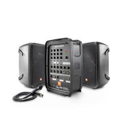 Parlantes Activos JBL Sistema 2 vías amplificador + Consola de Sonido 8 canales EON-208P